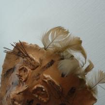 chamotte, glazuur, veren, naalden veger