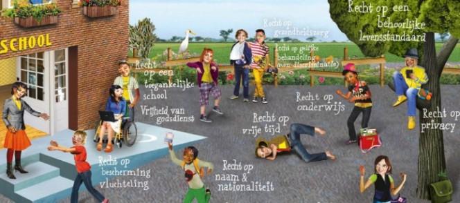Poster mensenrechten op school
