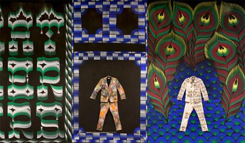 wandschildering MOTI ter verbinding van mode en grafisch
