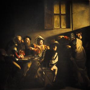 Caravaggio_De_roeping_van_Matteüs
