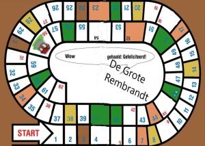 De Grote Rembrandt spelbord basis. Fictie literatuur. Mvomieke