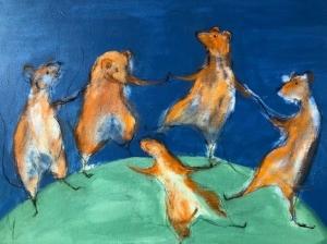 Als de kat van huis, dansen de muizen op tafel. Mieke van den Elzen