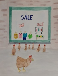 Er als de kippen bij zijn. Miriam van Asten.